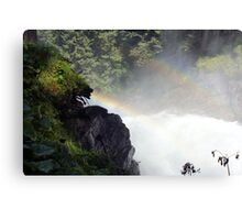 Two rainbow's one waterfal in Austria Krimml  Canvas Print