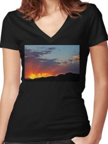 Last Light Women's Fitted V-Neck T-Shirt