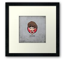 i'm geek Framed Print