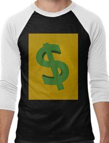 U.S. dollars Men's Baseball ¾ T-Shirt