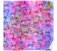 Colorful Pink Purple Mixed Watercolor Pattern Poster
