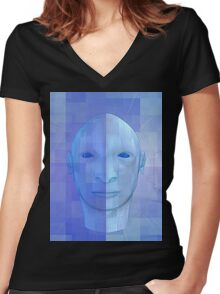 man in 3d Women's Fitted V-Neck T-Shirt
