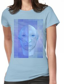 man in 3d Womens Fitted T-Shirt