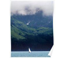 Sailing In Resurrection Bay Poster