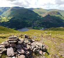 Cairn in the Foreground, Helvellyn behind by Duncan Payne