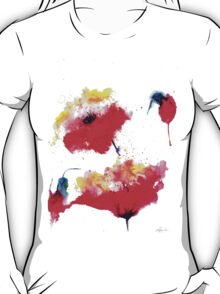 """""""Two red flowers"""" T-Shirt"""