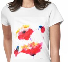 """Two red flowers"" Womens Fitted T-Shirt"