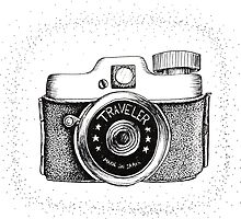 Vintage Traveler Camera by Elizabeth Rodriguez