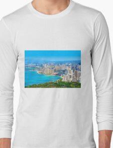 Honolulu city, Oahu, Hawaii Long Sleeve T-Shirt