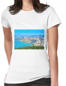 Honolulu city, Oahu, Hawaii Womens Fitted T-Shirt
