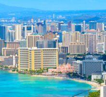 Honolulu city, Oahu, Hawaii Sticker