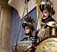 Sicilian puppets by Andrea Rapisarda
