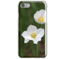 Snowdrop Anemone (Anemone sylvestris) iPhone Case/Skin