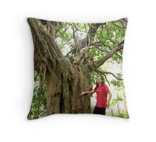 giant   fence tree Throw Pillow
