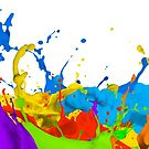 Colourful paint splashes by Digital Editor .