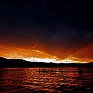 Sunset Manly Dam by sparrowdk
