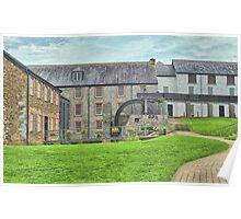 Buckfast Abbey Mill Poster