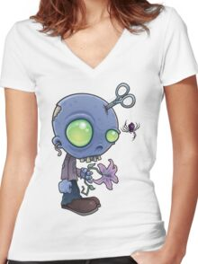 Zombie Jr. Women's Fitted V-Neck T-Shirt