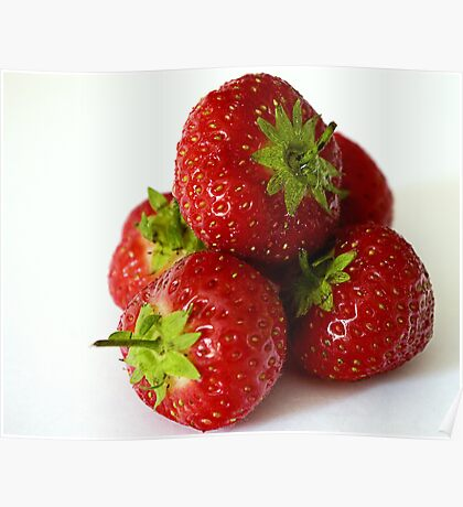 Strawberry stack Poster
