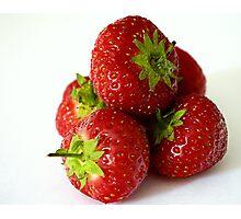 Strawberry stack Photographic Print