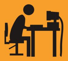 Man sitting at an office desk. by sweetsixty