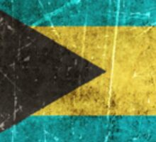 Vintage Aged and Scratched Bahamas Flag Sticker