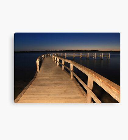 Lake Clifton Boardwalk At Dusk  Canvas Print