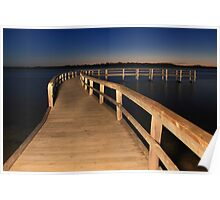 Lake Clifton Boardwalk At Dusk  Poster