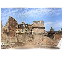 Rana Kumbha Palace At Chittorgarh Poster
