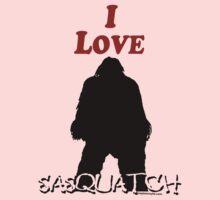I Love Sasquatch Kids Tee