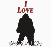 I Love Sasquatch Kids Clothes