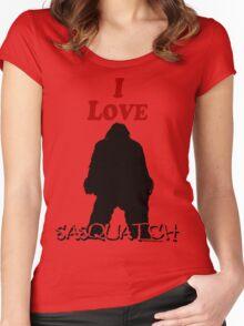 I Love Sasquatch Women's Fitted Scoop T-Shirt