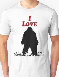 I Love Sasquatch Unisex T-Shirt