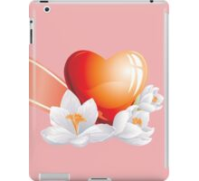 Passionate heart with flowers iPad Case/Skin