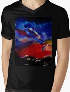Starry night Mens V-Neck T-Shirt