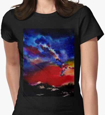Starry night Womens Fitted T-Shirt