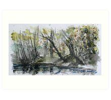 River Plym 3 Art Print