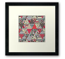 London triangle quilt Framed Print