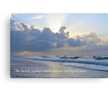 Heaven And Earth Meet Canvas Print