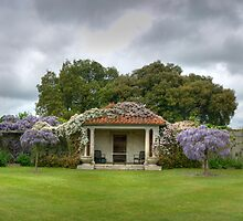 Vineyard HDR Panorama, Hole Park Gardens, Kent, England by Bob Culshaw