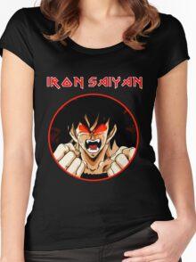 IRON SAIYAN Women's Fitted Scoop T-Shirt