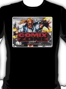 Comix Zone Genesis Megadrive Sega Start menu screenshot T-Shirt
