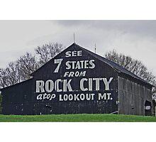 Rock City Barn  Photographic Print