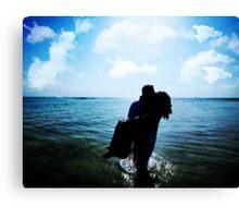ROMANCE AT THE BEACH Canvas Print