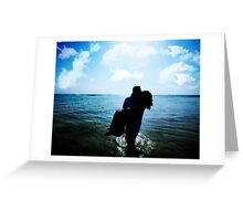 ROMANCE AT THE BEACH Greeting Card