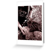 Stop and Smell the Roses-Goth tint Greeting Card