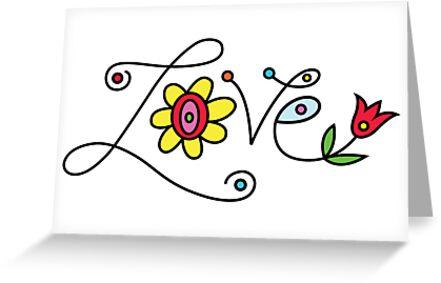 Love Card - white by Andi Bird