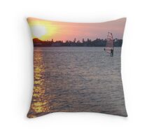 Windsurfer Throw Pillow