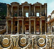 The Library of Celcus, Ephesus, Turkey by Johannes  Huntjens