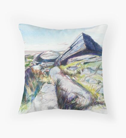 Down Tor Granite Throw Pillow